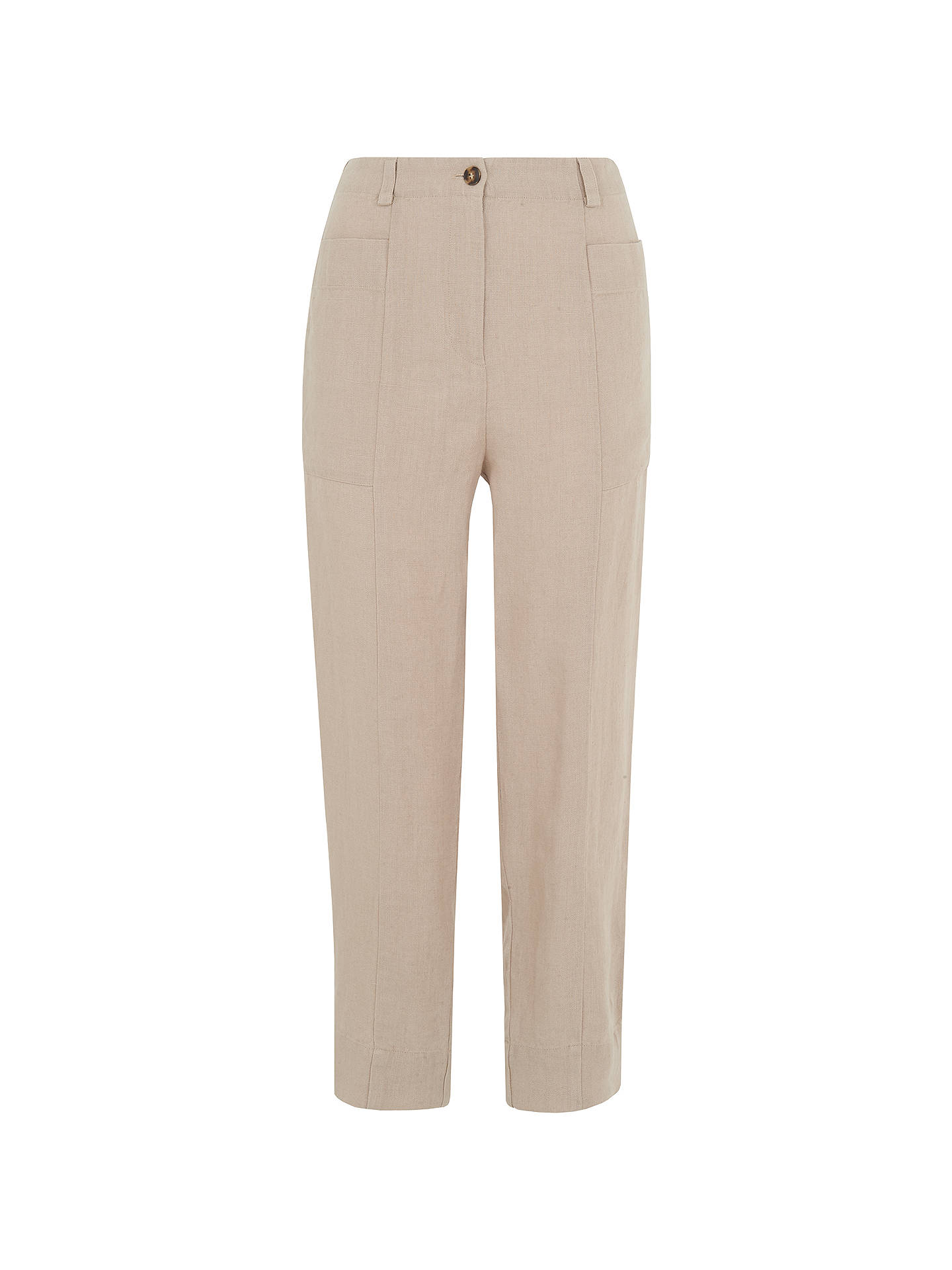 BuyWhistles Relaxed Linen Trousers, Neutral, 6 Online at johnlewis.com