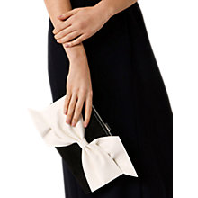 Buy Coast Una Bow Clutch Bag, Black/Ivory Online at johnlewis.com