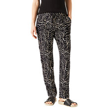 Buy Jigsaw Patella Wave Relaxed Trousers, Dark Navy Online at johnlewis.com