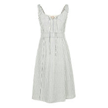 Buy Fat Face Christina Stripe Dress, White Online at johnlewis.com