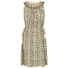 Buy Fat Face Roxy Earth Tribal Dress, Stone Online at johnlewis.com