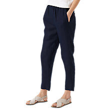 Buy Jigsaw Cold Water Dye Linen Trousers Online at johnlewis.com