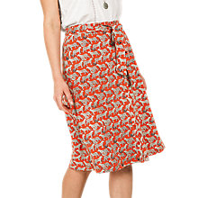 Buy Fat Face Mina Jungle Cat Skirt, Orange Online at johnlewis.com
