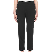 Buy Whistles Anna Elasticated Waist Trousers, Black Online at johnlewis.com
