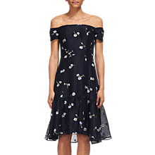 Buy Whistles Adalynn Embroidered Dress, Navy Online at johnlewis.com