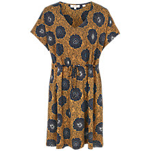Buy Fat Face Eliza African Floral Dress, Honey Online at johnlewis.com