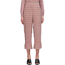 Buy Whistles Alisha Split Hem Trousers, Pink Multi Online at johnlewis.com