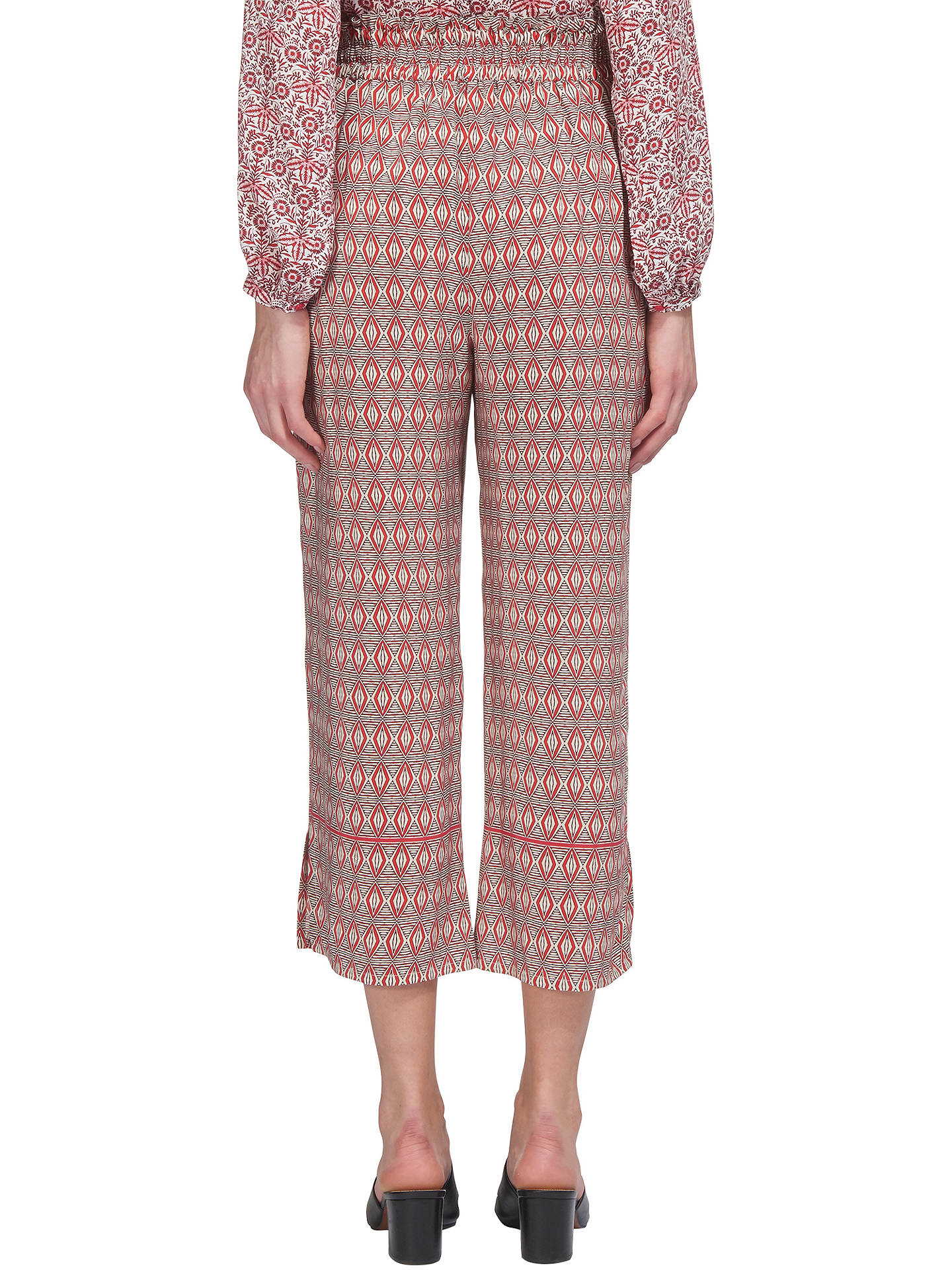 BuyWhistles Alisha Split Hem Trousers, Pink Multi, 6 Online at johnlewis.com