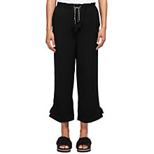 Buy Whistles Boho Trim Trousers, Black Online at johnlewis.com