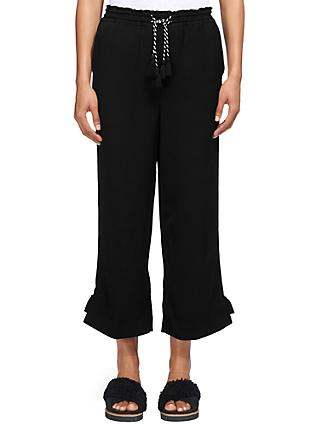 Whistles Boho Trim Trousers, Black