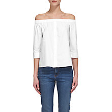 Buy Whistles Cotton Bardot Top, White Online at johnlewis.com
