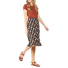 Buy Fat Face Collier Giraffe Midi Skirt, Phantom Online at johnlewis.com