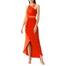 Buy Coast Marianna High Low Dress, Orange Online at johnlewis.com