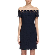 Buy Whistles Off Shoulder Short Lace Dress, Navy Online at johnlewis.com