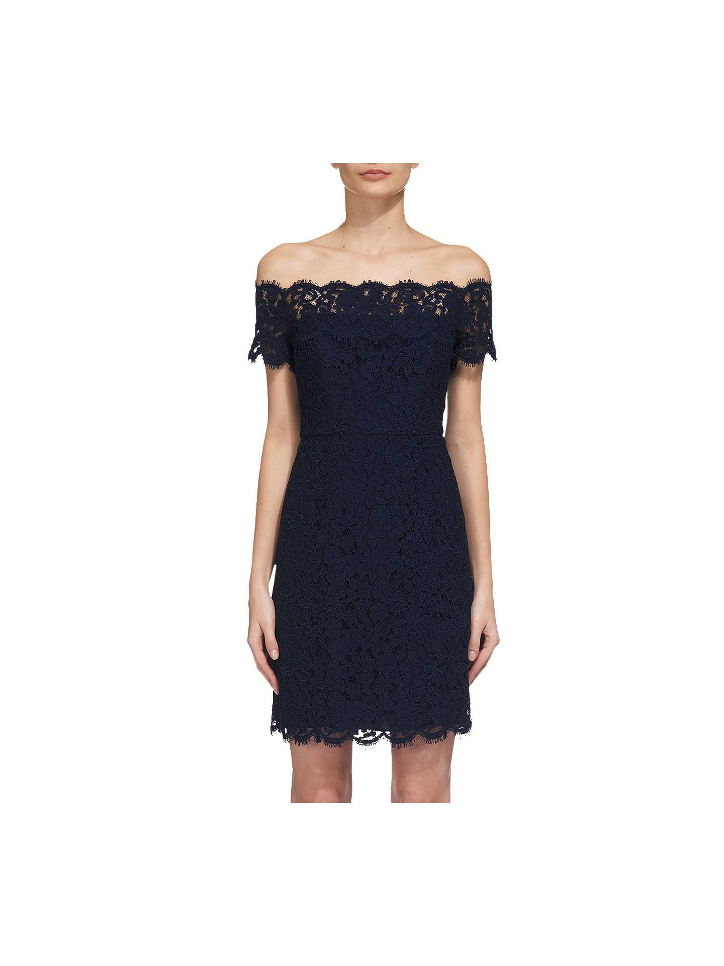 fd19c0eff5c1 Whistles Off Shoulder Short Lace Dress at John Lewis   Partners