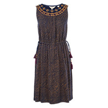 Buy Fat Face Roxy Safari Spot Dress, Navy Online at johnlewis.com
