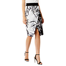 Buy Coast Messia Pencil Skirt, Black/White Online at johnlewis.com