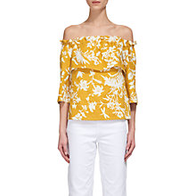 Buy Whistles Linen Freja Cornfield Top, Yellow Online at johnlewis.com