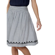 Buy Fat Face India Stripe Skirt, Ivory/Multi Online at johnlewis.com