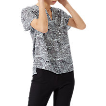 Buy Jigsaw Speckled Tide Silk Blouse, Morning Sky Online at johnlewis.com