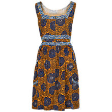 Buy Fat Face Angie African Floral Print Dress, Honey Online at johnlewis.com