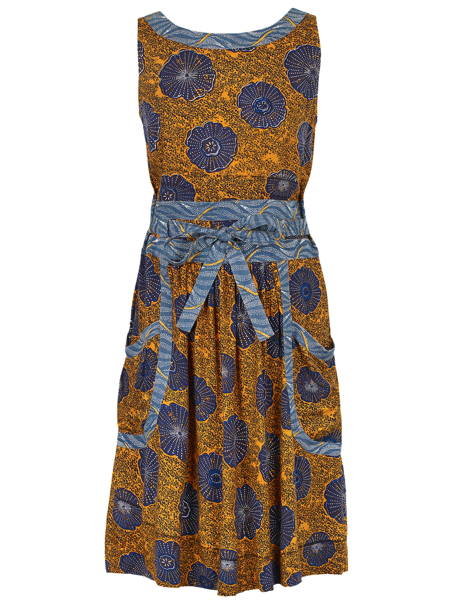 a7944fda335f97 Buy Fat Face Angie African Floral Print Dress, Honey, 6 Online at johnlewis.