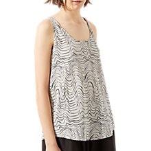 Buy Jigsaw Patella Wave Silk Vest Top, Cool Sand Online at johnlewis.com