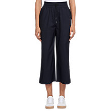 Buy Whistles Stitch Fluid Cropped Trousers, Navy Online at johnlewis.com