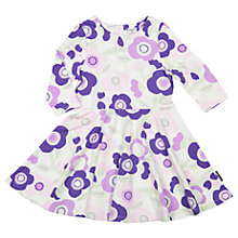 Buy Polarn O. Pyret Girls' Floral Dress, Purple Online at johnlewis.com
