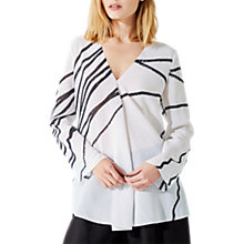 Buy Jigsaw Butterfly Series Silk Top, Ivory Online at johnlewis.com