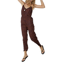 Buy Fat Face Jemma Safari Spot Jumpsuit, Navy Online at johnlewis.com