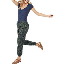 Buy Fat Face Batik Printed Linear Trousers, Sea Blue Online at johnlewis.com