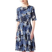 Buy Jigsaw Floral Dress, Navy Online at johnlewis.com