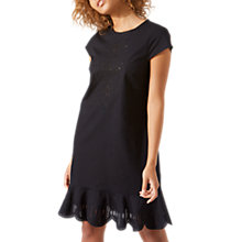 Buy Jigsaw Cotton Broderie Dress, Black Online at johnlewis.com