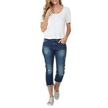 Buy Fat Face Storm Straight Leg Cropped Jeans, Blue Online at johnlewis.com