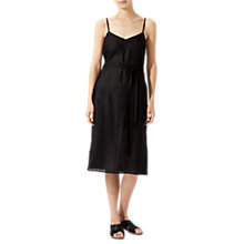 Buy Jigsaw Linen Slip Dress, Black Online at johnlewis.com