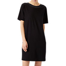 Buy Jigsaw Silk Trim Deep V Back Dress, Black Online at johnlewis.com