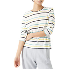 Buy Jigsaw Linen Stripe Top Online at johnlewis.com