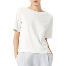 Buy Jigsaw Silk Trim Deep V Back Top Online at johnlewis.com