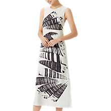 Buy Jigsaw Cerith Stripe Silk Midi Dress, White Online at johnlewis.com