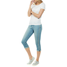 Buy Fat Face Straight Leg Cropped Embroidered Jeans, Denim Online at johnlewis.com