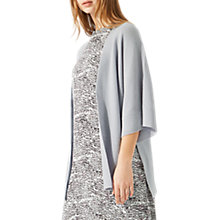 Buy Jigsaw Soft Rib Slit Kimono, Ice Grey Online at johnlewis.com