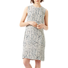 Buy Jigsaw Patella Wave Back Pleat Dress, Cool Sand Online at johnlewis.com