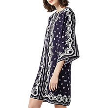 Buy Warehouse Bandana Print Tunic Dress, Navy Online at johnlewis.com