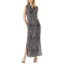 Buy Jigsaw Patella Wave Maxi Dress, Navy Online at johnlewis.com