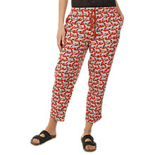 Buy Fat Face Jungle Cat Tapered Trousers, Orange Online at johnlewis.com