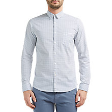 Buy BOSS Orange Eglam Shirt, White/Blue Online at johnlewis.com