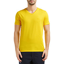 Buy BOSS Green C-Canistro Slim V-Neck T-Shirt, Bright Yellow Online at johnlewis.com