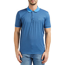 Buy BOSS Green Paddos Stripe Cotton Polo Shirt Online at johnlewis.com