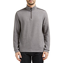 Buy BOSS Green C-Piceno Half-Zip Sweatshirt, Medium Grey Online at johnlewis.com